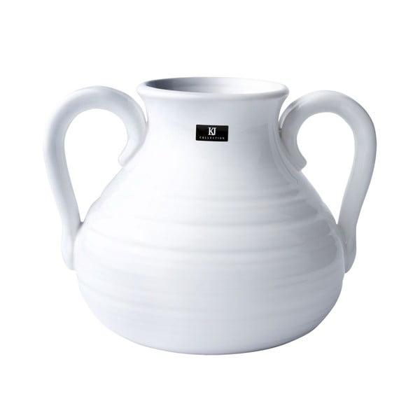 Keramická váza, 16 cm, bílá