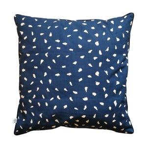 Modrý polštář z čisté bavlny HARTÔ, 50 x 50 cm