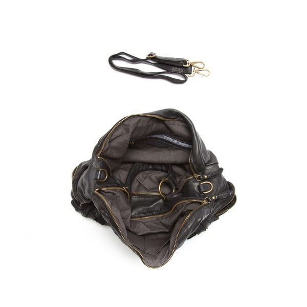 Kožená kabelka Mangotti 0004, černá