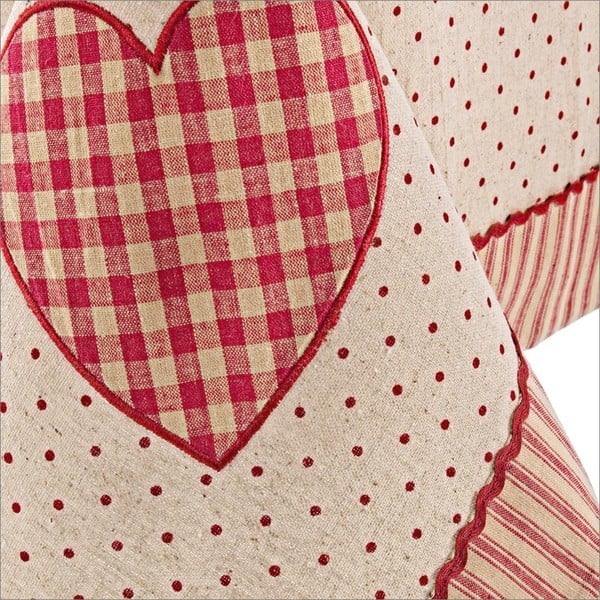 Ubrus Bizzotto Anna Red Heart, 140x260 cm