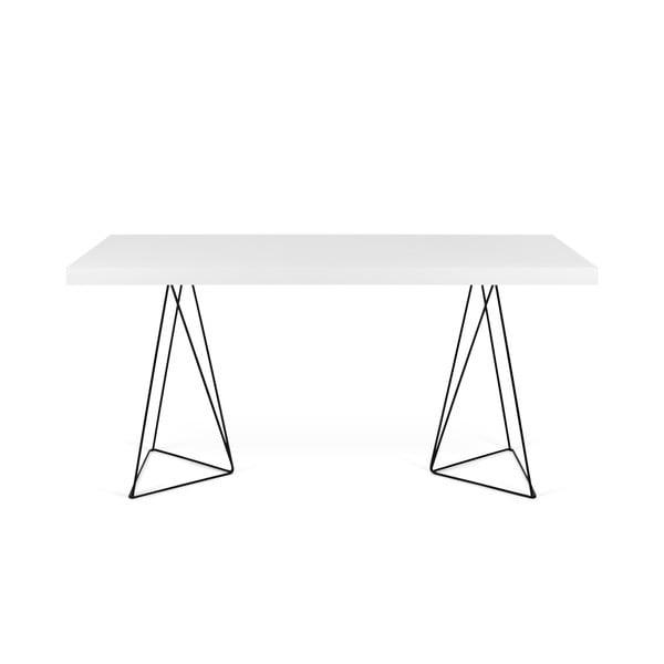 Bílý stůl s černými nohami TemaHome Multi, 180 x 77 cm