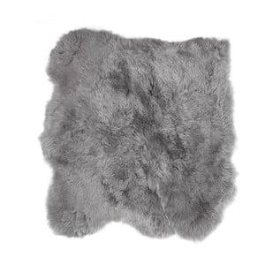 Covor din blană cu fir scurt Busta, 90 x 80 cm, gri