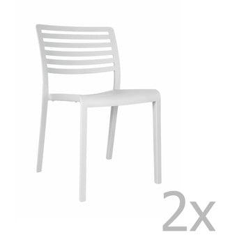Set 2 scaune de grădină Resol Lama, alb