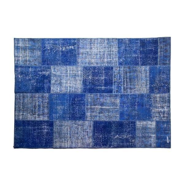 Vlněný koberec Allmode Blue, 180x120 cm