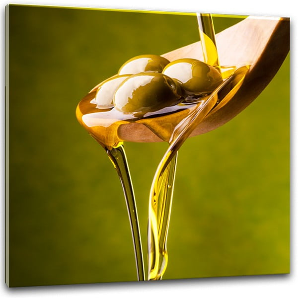 Glasspik Olive II fali kép, 30 x 30 cm - Styler