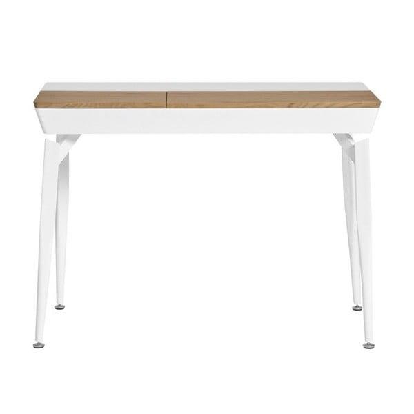 Bílý pracovní stůl s úložným prostorem Marckeric Cira