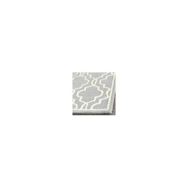 Vlněný koberec Elle 121x182 cm, šedý