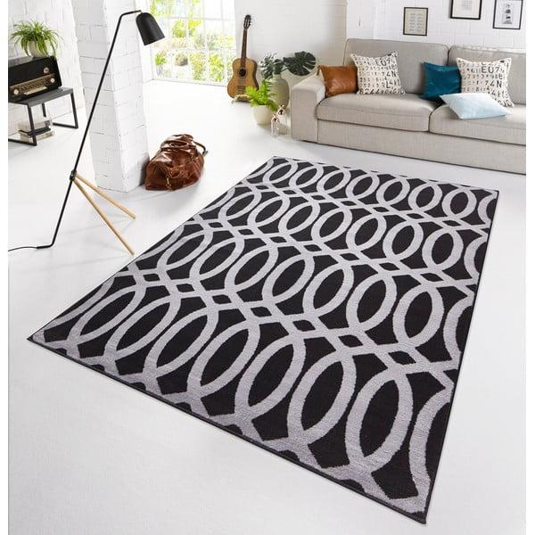 Černý koberec Schweda, 160x225 cm