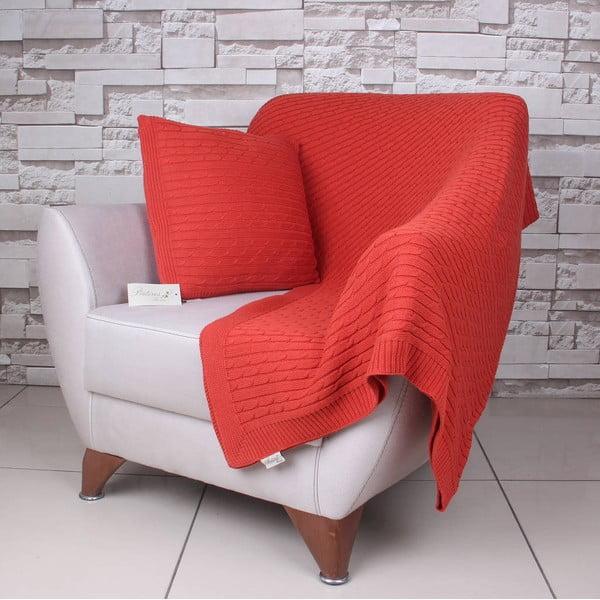 Oranžová bavlněná deka Celma