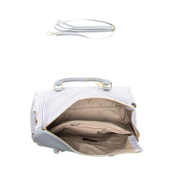 Kožená kabelka Carla, šedá