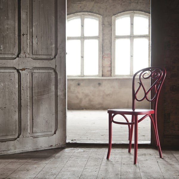 Sada 2 červených dřevěných židlí Fameg Jesper