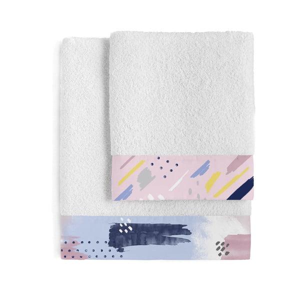 Sada 2 bavlnených ručníkov Blanc Tempera