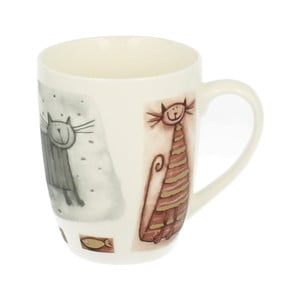 Porcelánový hrnek s motivem kočky Duo Gift, 320 ml