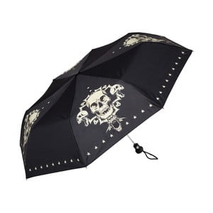 Černý skládací deštník Von Lilienfeld Skull