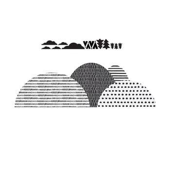 Autocolant pentru perete Dekornik Mountains Scandi imagine