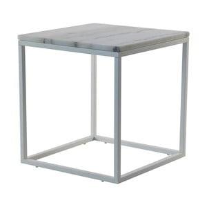 Mramorový konferenční stolek s šedou konstrukcí RGE Accent, 55x55cm