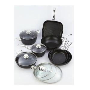 13dílný set nádobí s rukojetí ve stříbrné barvě Bisetti Black Diamond