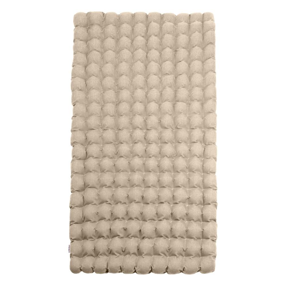 Béžová relaxační masážní matrace Linda Vrňáková Bubbles, 110 x 200 cm