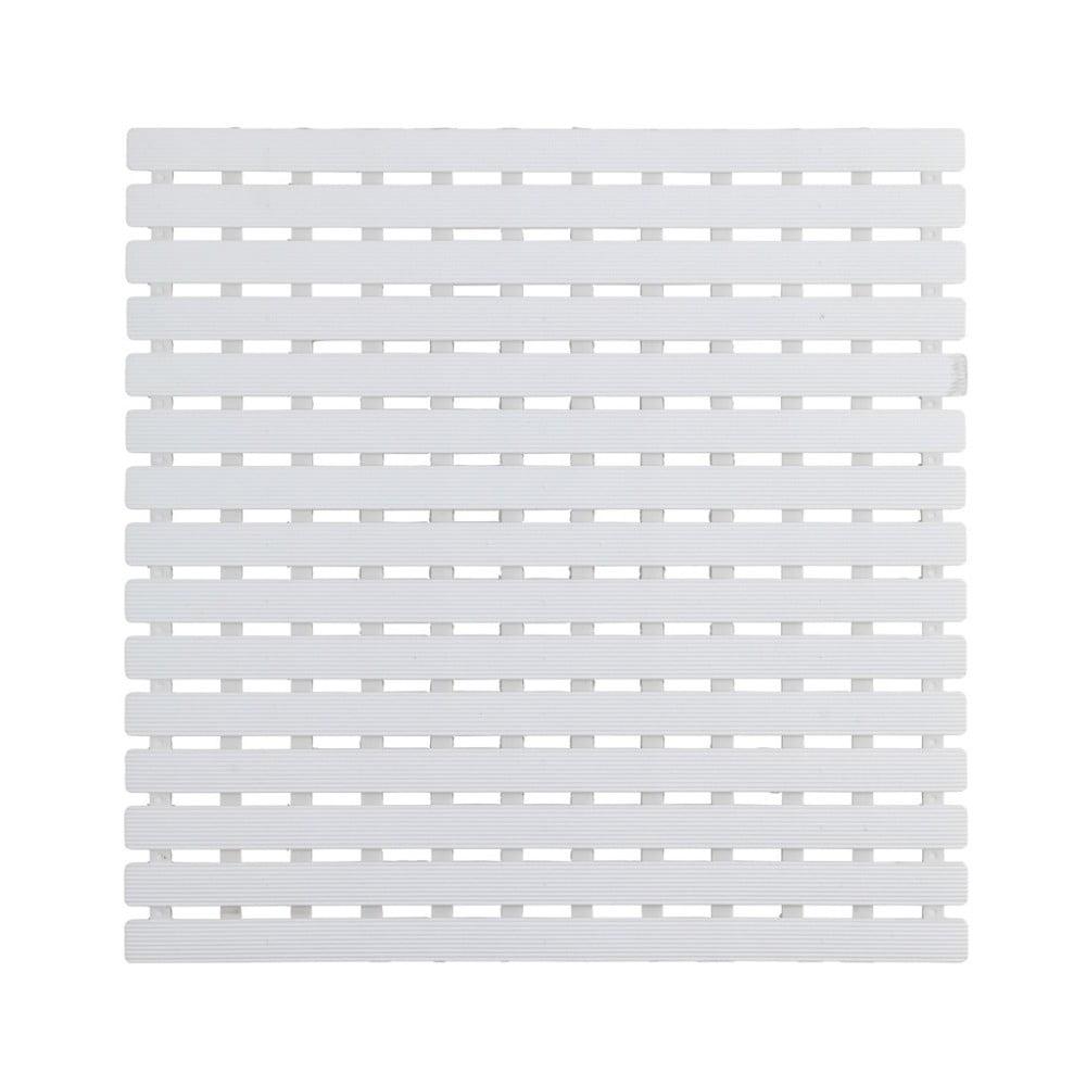 Bílá podložka do sprchového koutu Wenko Arinos, 54 x 54 cm
