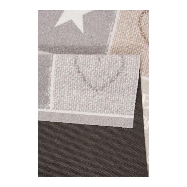 Hnědobéžový kuchyňský běhoun Hanse Home Shapes, 45x140cm