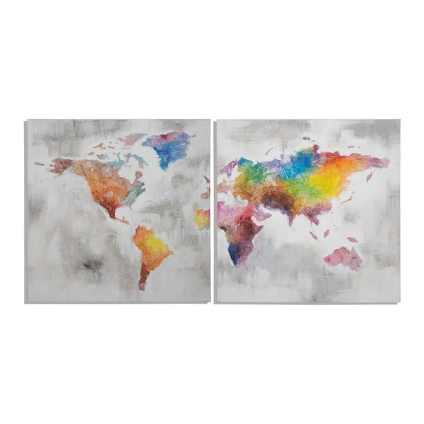 Vícedílný ručně malovaný obraz Mauro Ferretti Crazy World,200x100cm