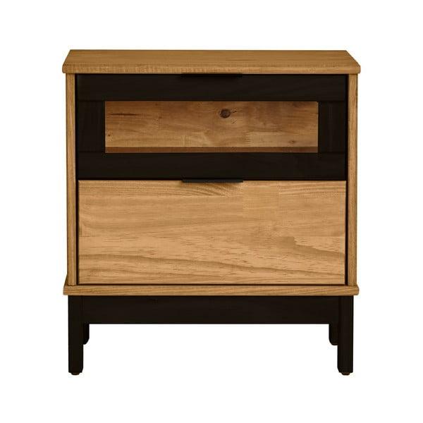 Nočný stolík z masívneho borovicového dreva Marckeric Denise