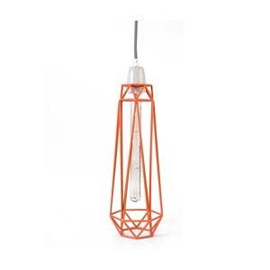 Lustră Filament Style Diamond, portocaliu