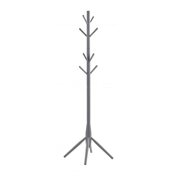 Szary wieszak stojący z drewna dębowego Rowico Python