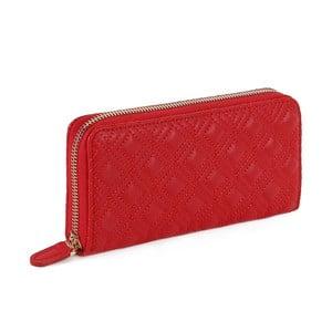 Červená peněženka z koženky Laura Ashley Beagle