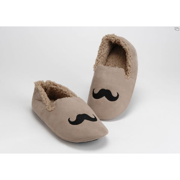Papuče Moustache Taupe, vel. 44/45