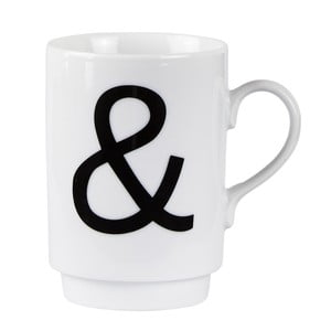 Porcelánový písmenkový hrnek KJ Collection Ampersand, 250 ml