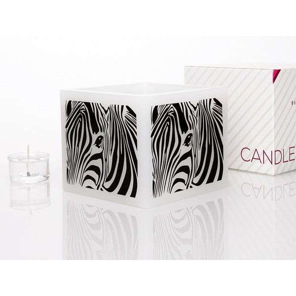Svícen na čajovou svíčku Zebra