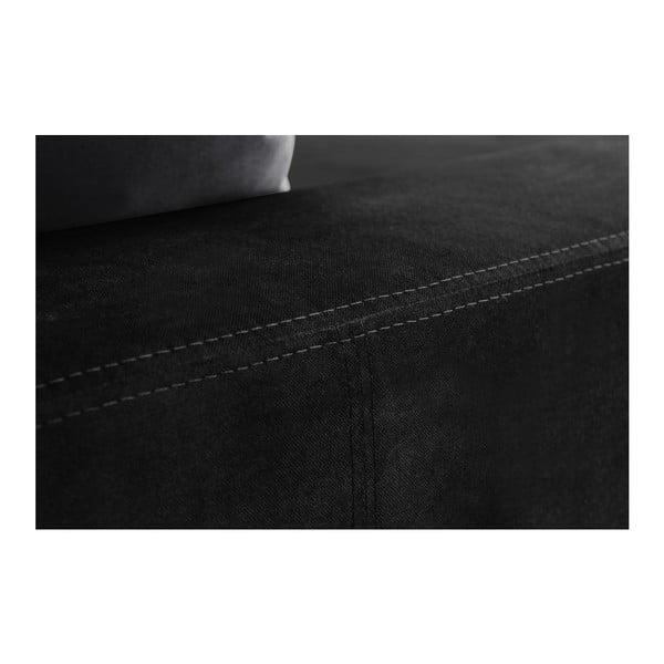 Černá pohovka Florenzzi Bellini s lenoškou na levé straně