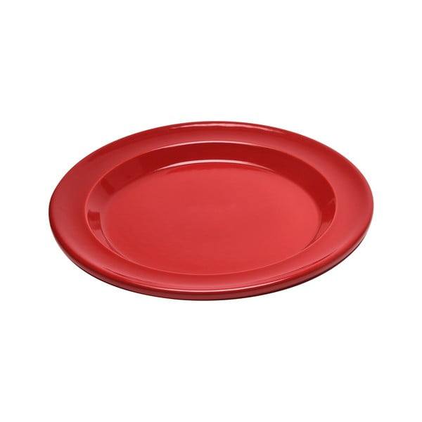 Červený dezertní talíř Emile Henry, ⌀ 21 cm