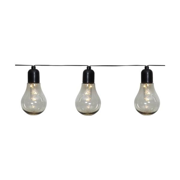 Ogrodowy łańcuch świetlny LED z motywem żarówek Best Season Glow, 10 lampek