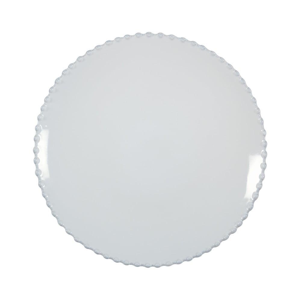 Bílý kameninový dezertní talíř Costa Nova Pearl, ⌀22cm