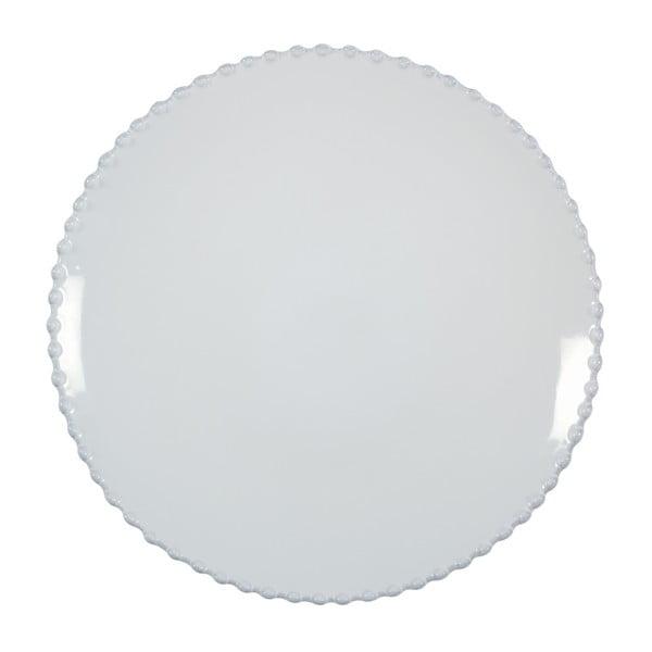 Biely kameninový dezertný tanier Costa Nova Pearl, ⌀23cm