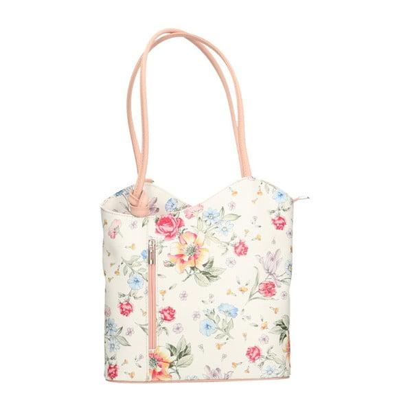 Skórzana torebka z różowymi detalami Chicca Borse Paraya