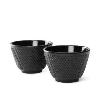 Set 2 căni din fontă Bredemeijer Xilin, ⌀ 7,8 cm, negru
