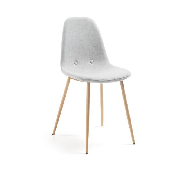 Světle šedá jídelní židle La Forma Lissy