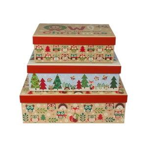 Sada 3 ks podlouhlých krabic Tri-Coastal Design Christmas Stories