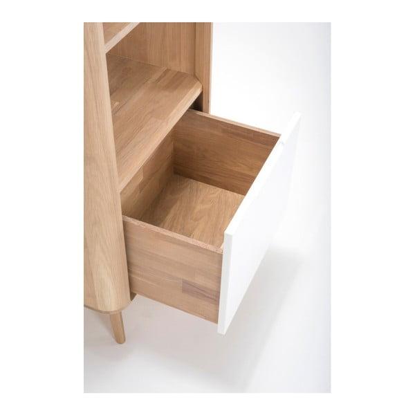Knihovna z dubového dřeva Gazzda Ena, 60x42x125cm