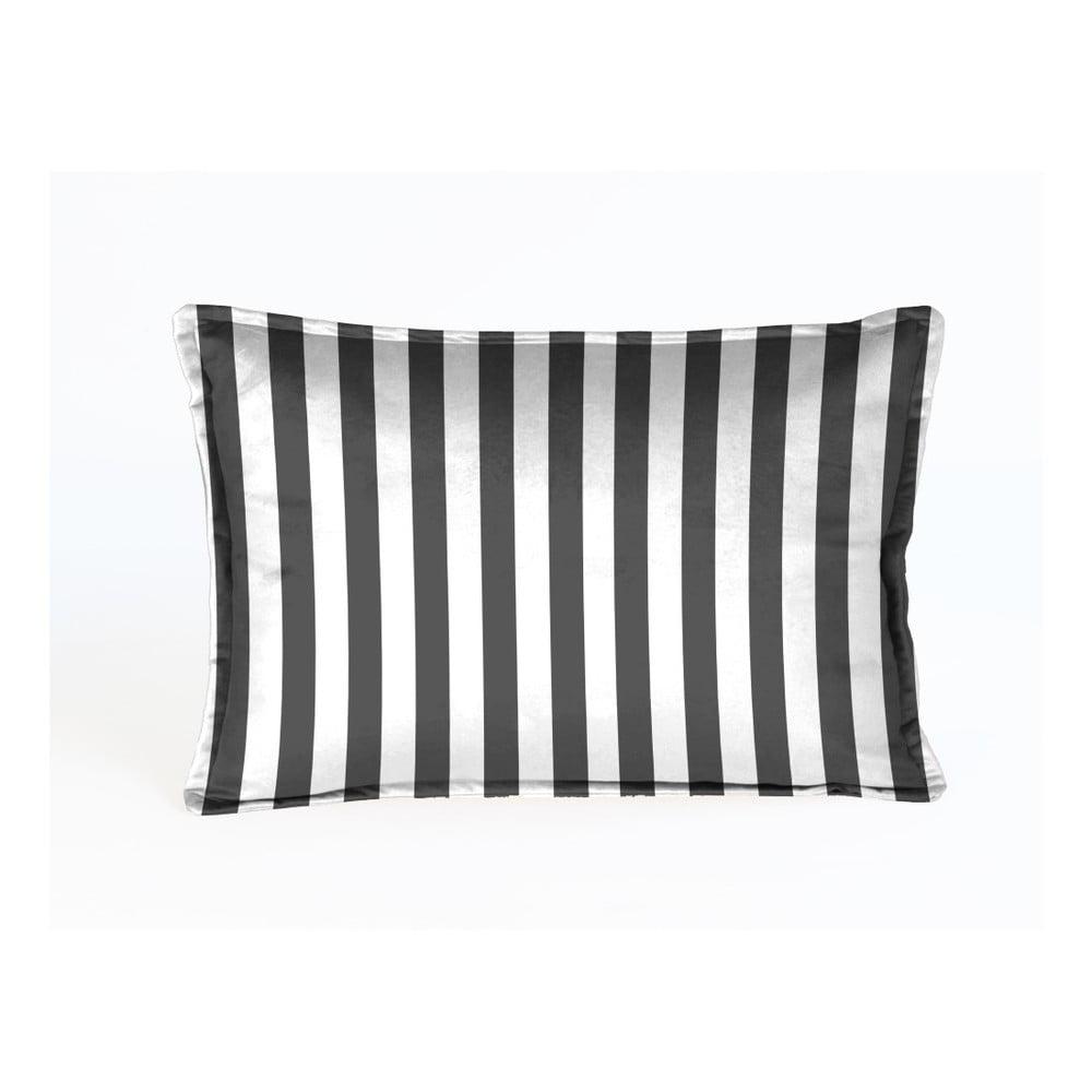 Dekorativní polštář Velvet Atelier Strippy, 50 x 35 cm