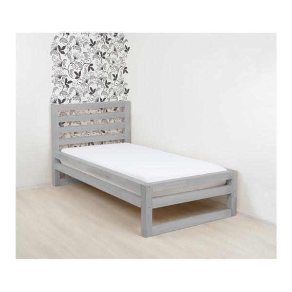 Šedá dřevěná jednolůžková postel Benlemi DeLuxe, 200x120cm