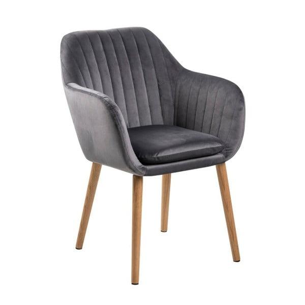 Ciemnoszare krzesło Actona Emilia Vic