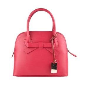 Růžová kožená kabelka Matilde Costa Puebla