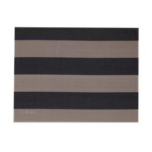 Béžovo-černí pruhované prostírání Saleen Stripy