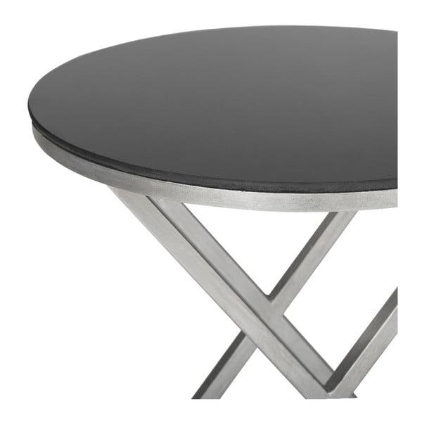 Odkládací stolek Riona, stříbrný
