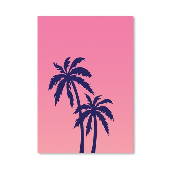 Plakát Palm Tree Pink