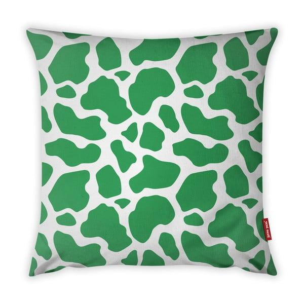 Zielno-biała poszewka na poduszkę Vitaus Animal Print, 43x43 cm